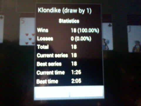 18 wins at Klondike